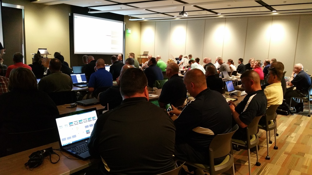 "We had a packed house for the day of May 7th in a world class conference/presentation center. All conference Data and Video was distributed via ""on line link"" so that attendees could download and follow along as the presentations were given."