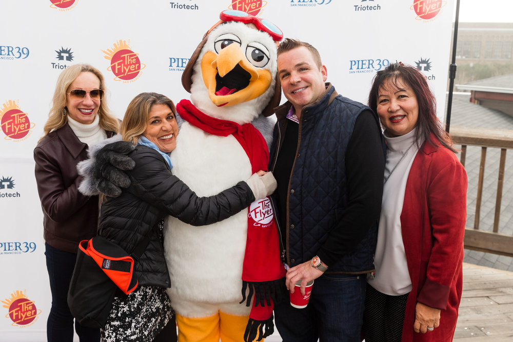 Analine Krause, Jenny Rauh, Travis Becker, Kathy Tolentino at The Flyer - San Francisco