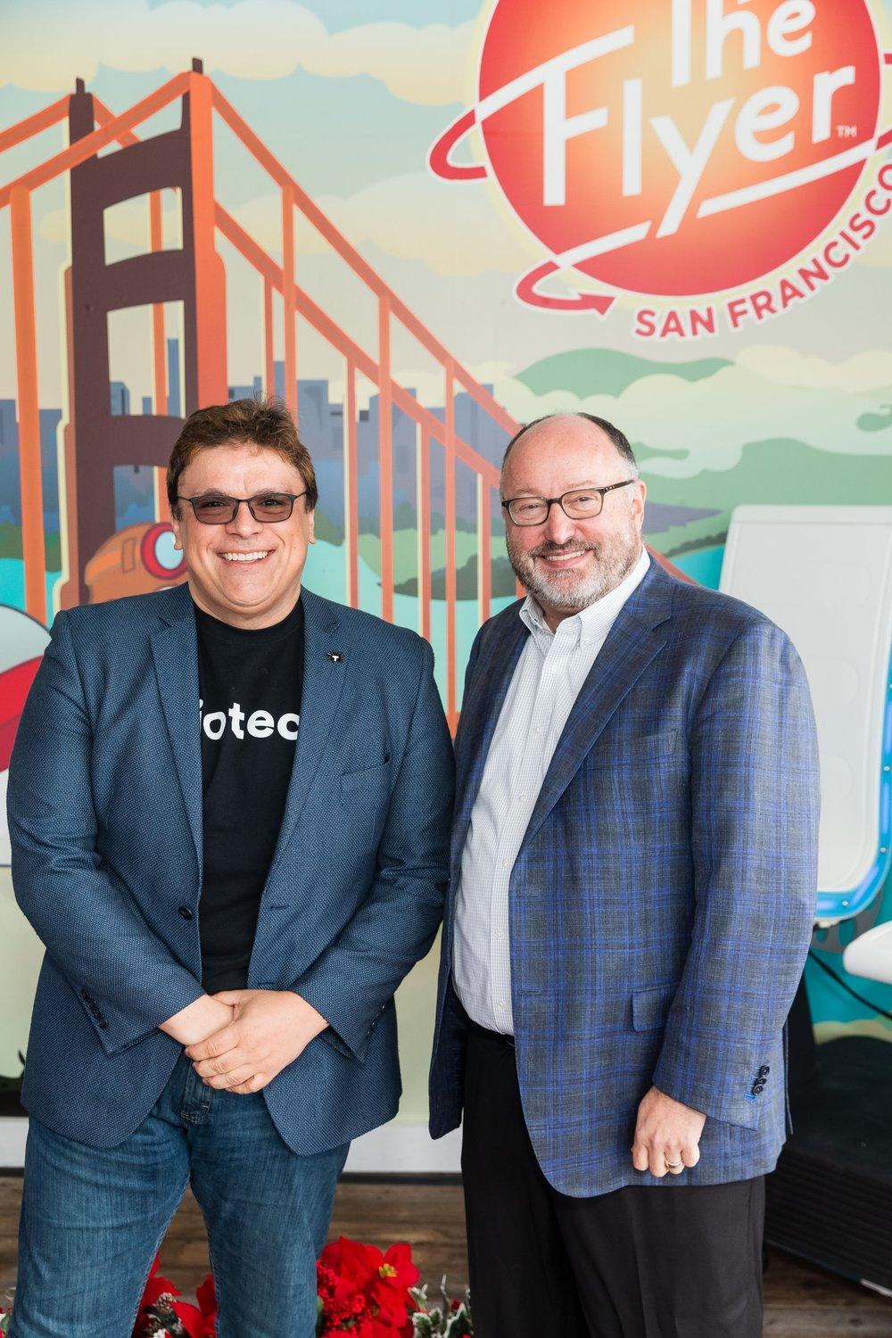 Ernest Yale, CEO of Triotech and John Alter, owner of The Flyer - San Francisco