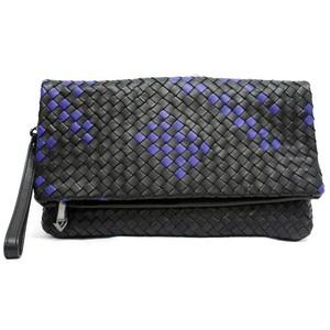 CK Woven Black Cobalt clutch.jpg