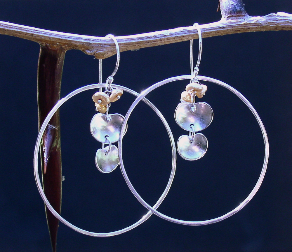 Hoop & Petal Earrings