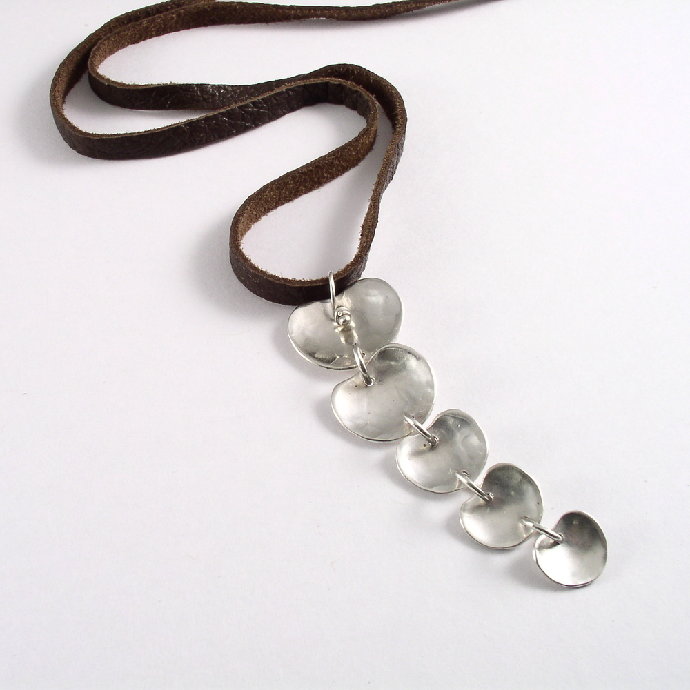 Cascade Necklace on Deerskin