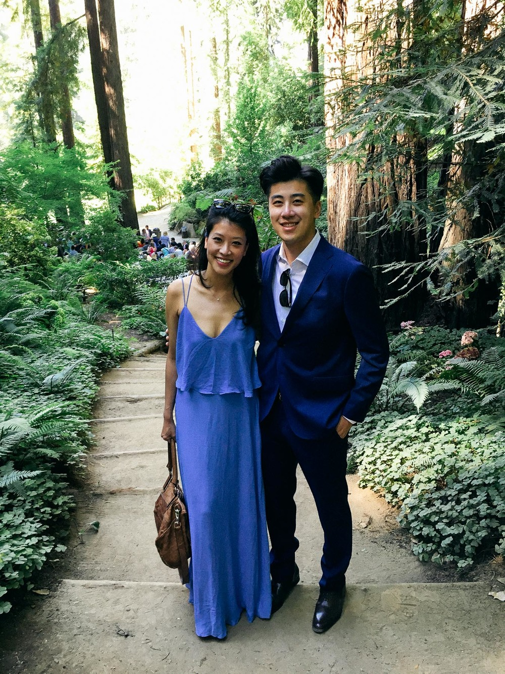 Wearing an old Zara maxi dress. Actually looks better in pictures than in real life - the blue is a bit too light for my skin tone. But really appropriate for this kind of wedding, what do you think?