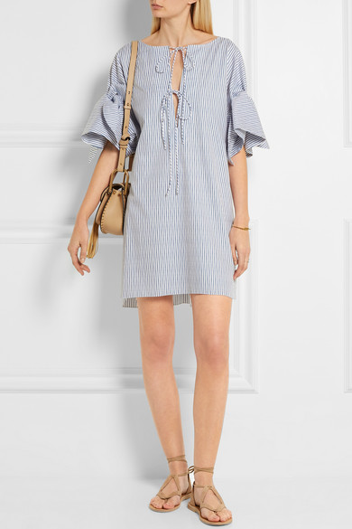 wear to: very casual beach wedding Three Graces London | Cephale striped cotton dress | $435