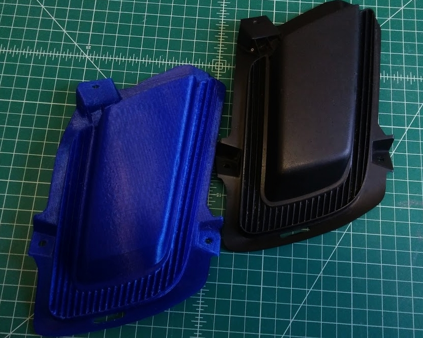 3D Printed Part and Original Part