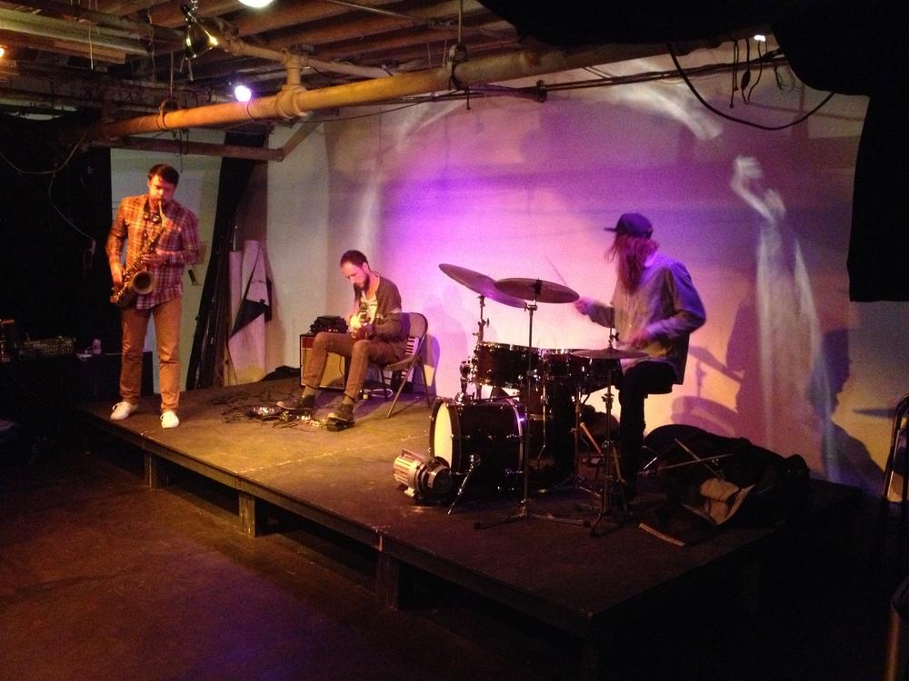 Guitarist Wilson Novitzki, saxophonist Matt Nelson and drummer Reed Stewart.