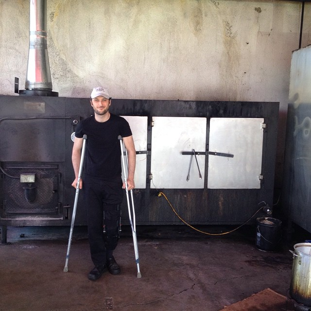 Cant believe i missed posting this one. @galuten in front of a real Bewley smoker at Bludso's in Compton, early summer.