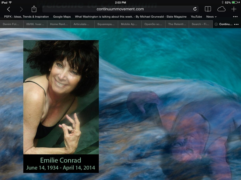 Emilie Conrad June 14, 1934 - April 14, 2014