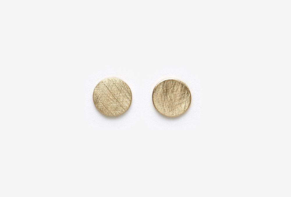Kidd Studs / 14k yellow gold, brushed / wholesale $75.00
