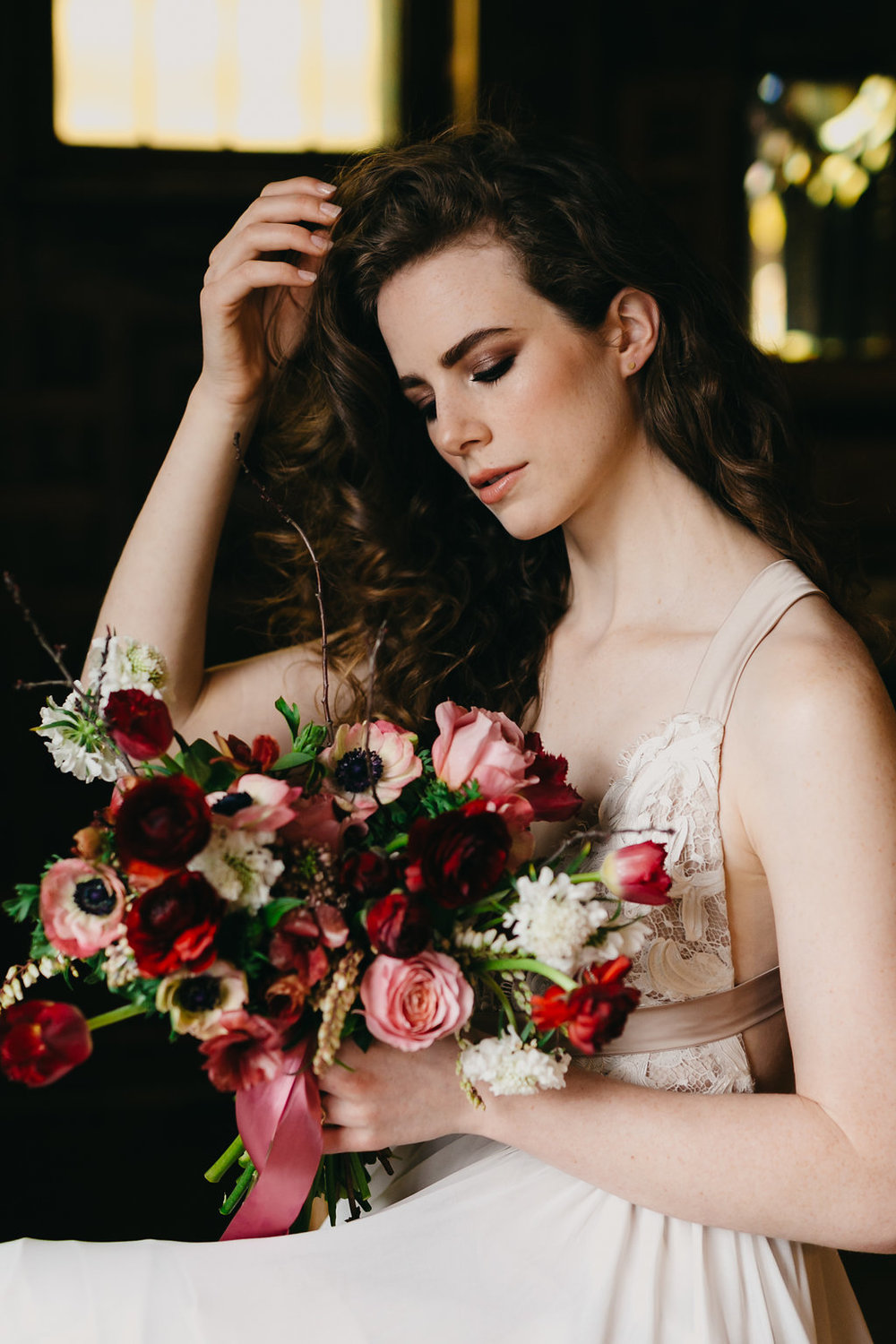 Kidd Studs as above left. Photography @KaylaRocca / Model @Frecklegalaxy / Dress @Tuvellebridal via @Etsyca #Etsyca / Flowers @Timberlost / Hair and MUA @lilyhobeauty / Venue @Berkeleyevents