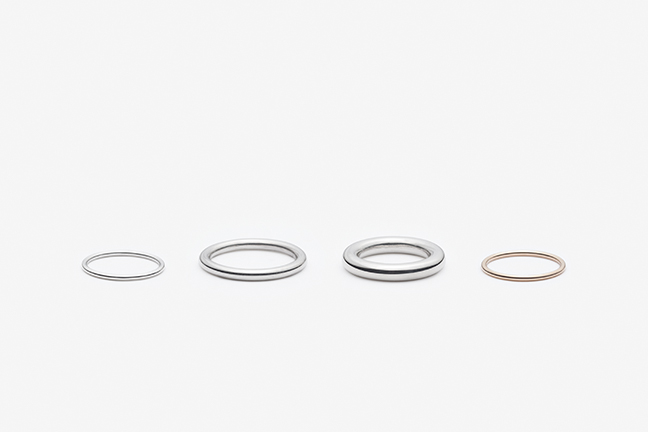 Fine Round Ring, Broad Round Ring, Extra Broad Round Ring. Sterling Silver, 14K Yellow Gold, 14K Rose Gold, 14K White Gold