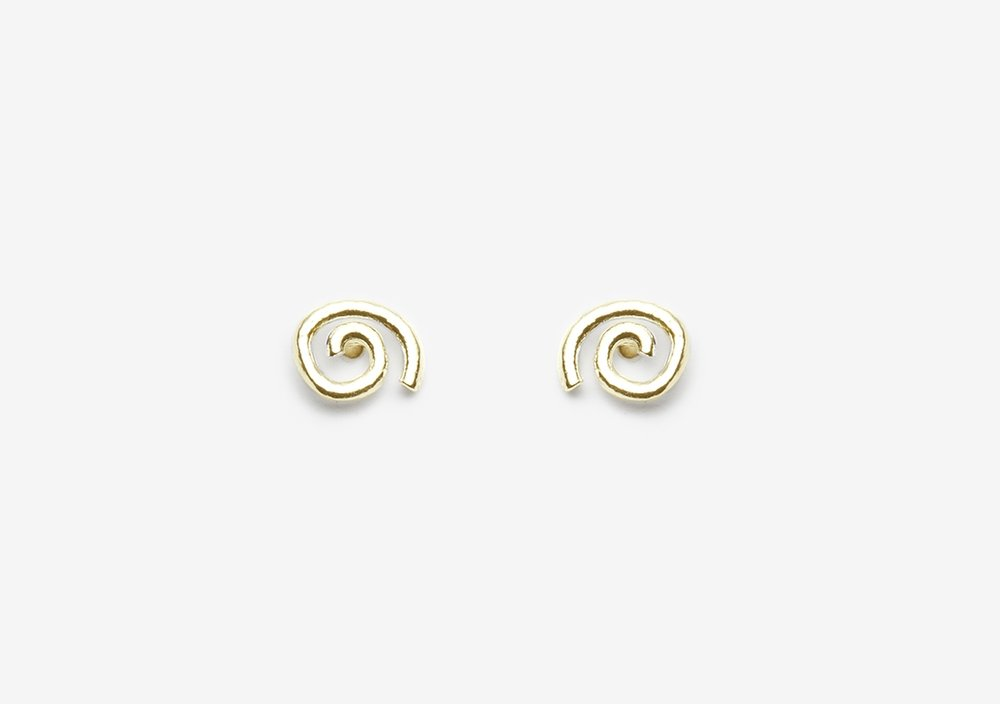 Herb Studs 14k Yellow Gold