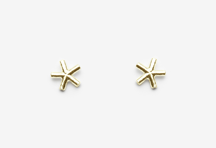 Eddie Studs 14k Yellow Gold