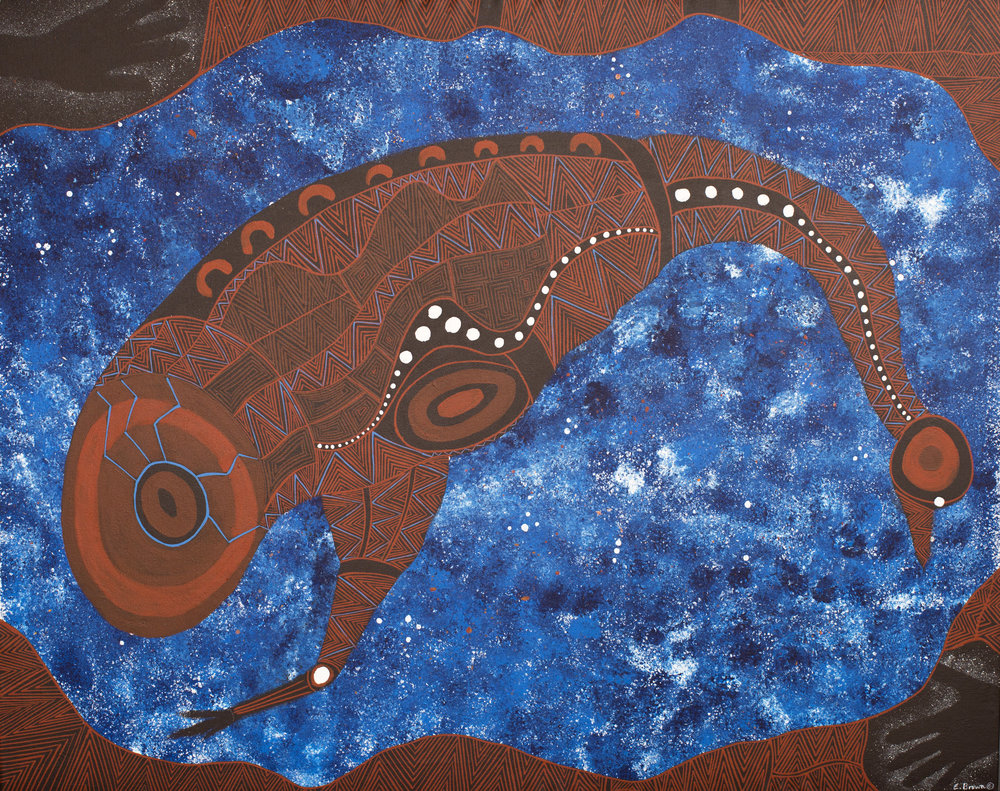 'Emu in the Stars', Eric Brown, Kamilaroi 37.jpg