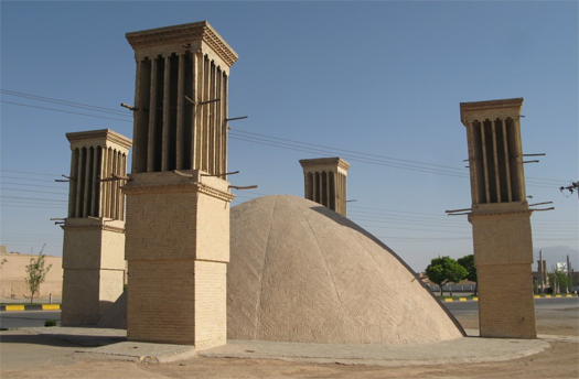 Persian Windcatchers (passive cooling)