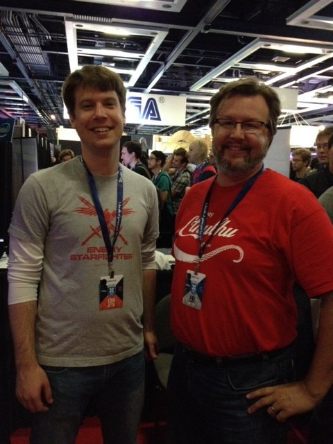 Bill Morrison, one of the mission designers on the X-Wing and TIE-Fighter series, stopped by to say hi.
