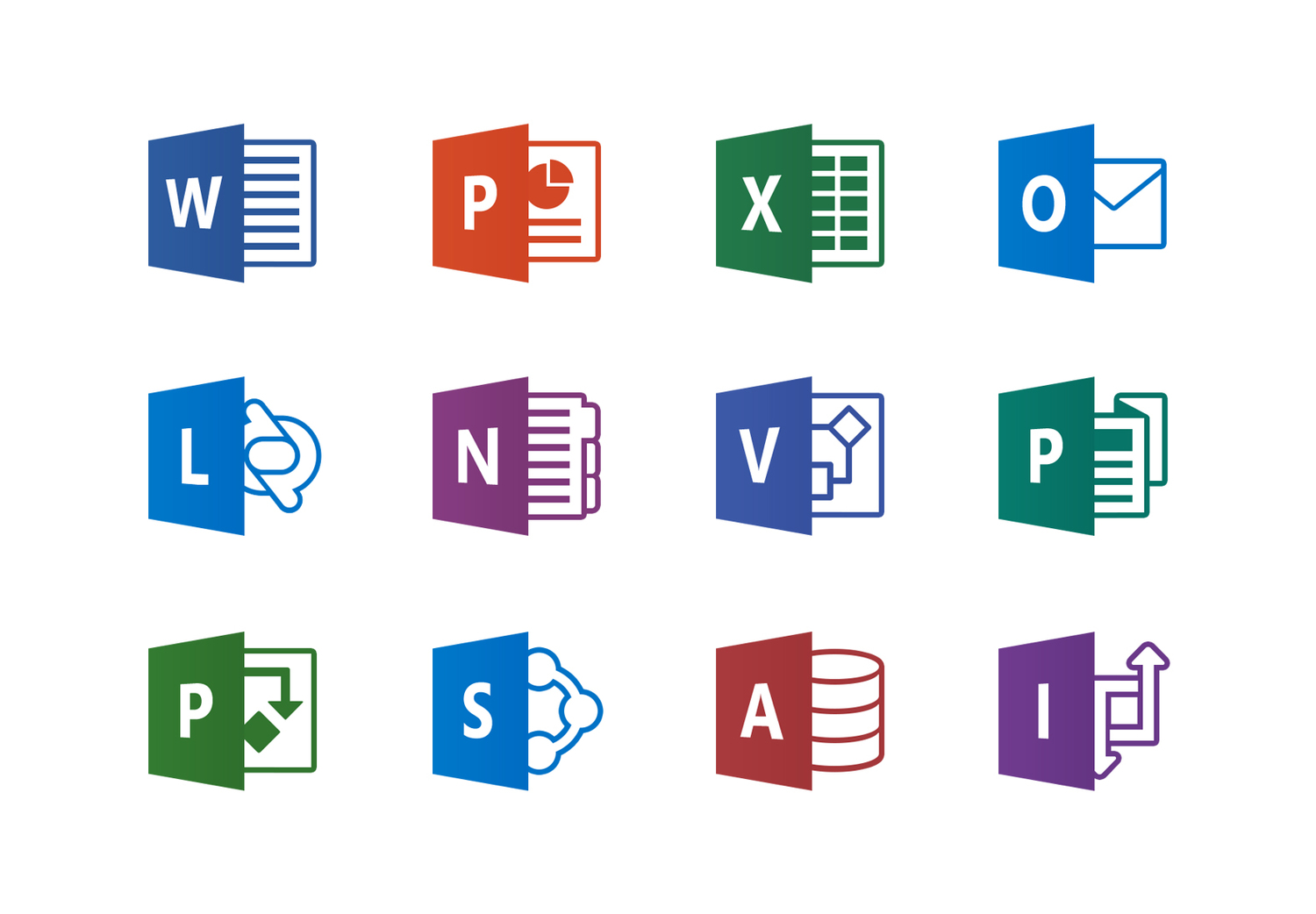 microsoft office product icons � pablo rochat