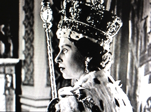 Queen Elizabeth II coronation portrait by Cecil Beaton. photo credit: see below