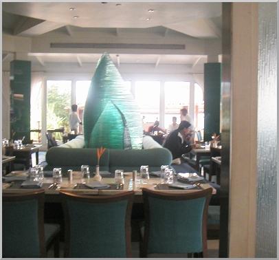 Glas sculpture at Latitude restaurant