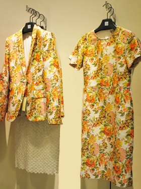 Patterns with Spring flowers in Citrus colors.