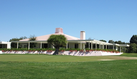 View of the home from the links.