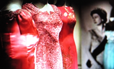 Selection of gowns in red from QE II.