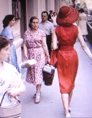 The New Look Street Style ca. 1955.