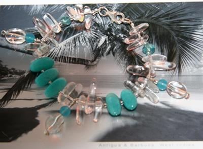 The Key West blu bracelet by Jasmin blu Jewelry.