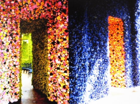 Show location for the Fall/Winter Couture Show 2012 inspiration by Christian Dior, he loved roses.