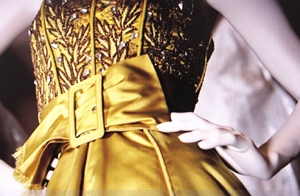 This ballgown in celery with the mega belt I would love the wear that today.