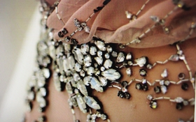 Bling detail for a fabulous gown at Ballgowns V&A.