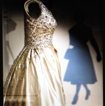 Side view gown for Queen Elizabeth II.
