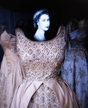 Her Majesty Queen Elizabeth II with some of her splendid gowns.