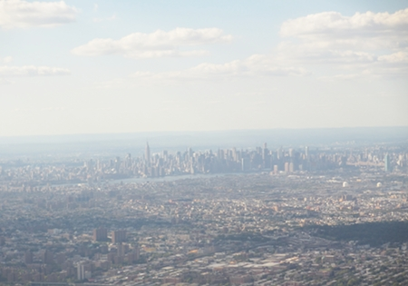 Manhattan in the distance on a sunny afternoon in late September 2012.