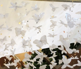 Butterflies flying through the air what a magical feeling.