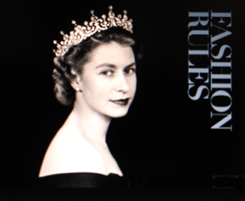 Portrait of young Elizabeth II for Fashion Rules poster