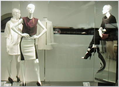 ZARA store windows in Berne.