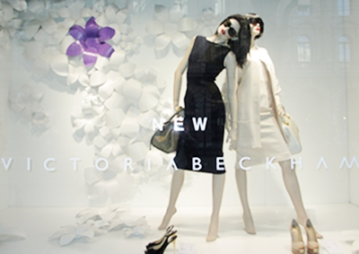 This wintery shop window in Zürich, like the black dress by VB