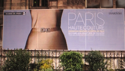 The advertisement for the exhibit: PARIS HAUTE COUTURE