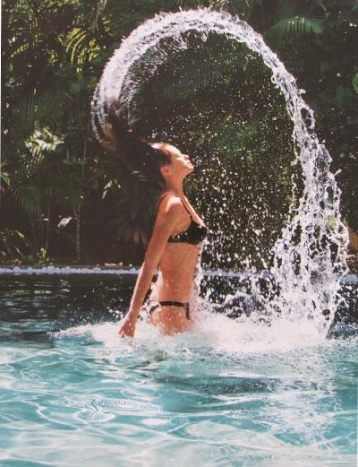 Make some waves. An exhilarating splash it's great fun.