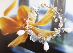 White Rocks bracelet by Jasmin blu Jewelry.