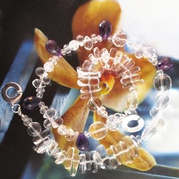 Deep purple Amethyst necklace in the desert Sunset, by Jasmin blu Jewelry.
