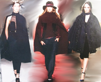Fall collections in sumptuous textures and deep colors.