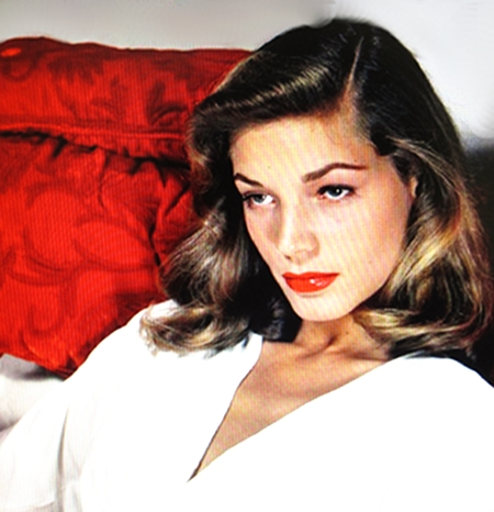 "Her sultry look, mysterious seduction, the appeal of Lauren Bacall. ""The Stuff that dreams are made of.""  (Sam Spade said in the The Maltese Falcon, Humphrey Bogart.)"