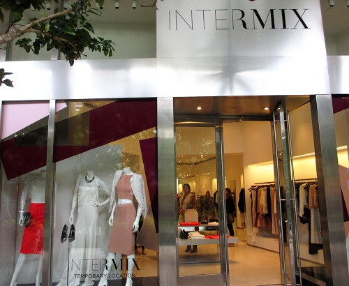 The Intermix collections are inviting with color block.