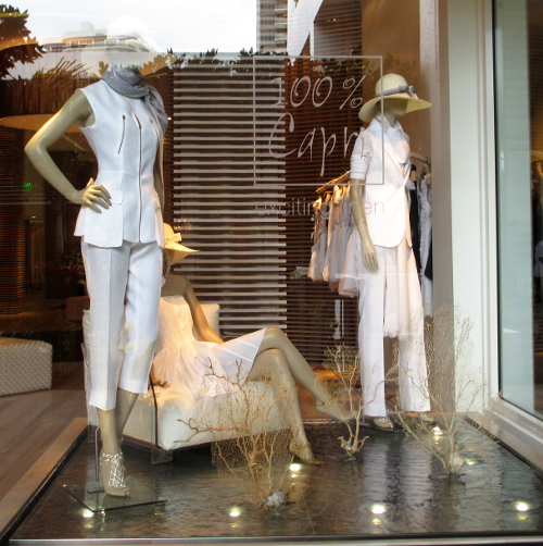 The 100% Capri store with white Linen, traditional classic exquisitely taylored.