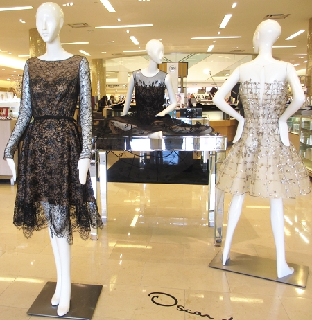 Transparent and ephemeral dreamy creations at Saks.