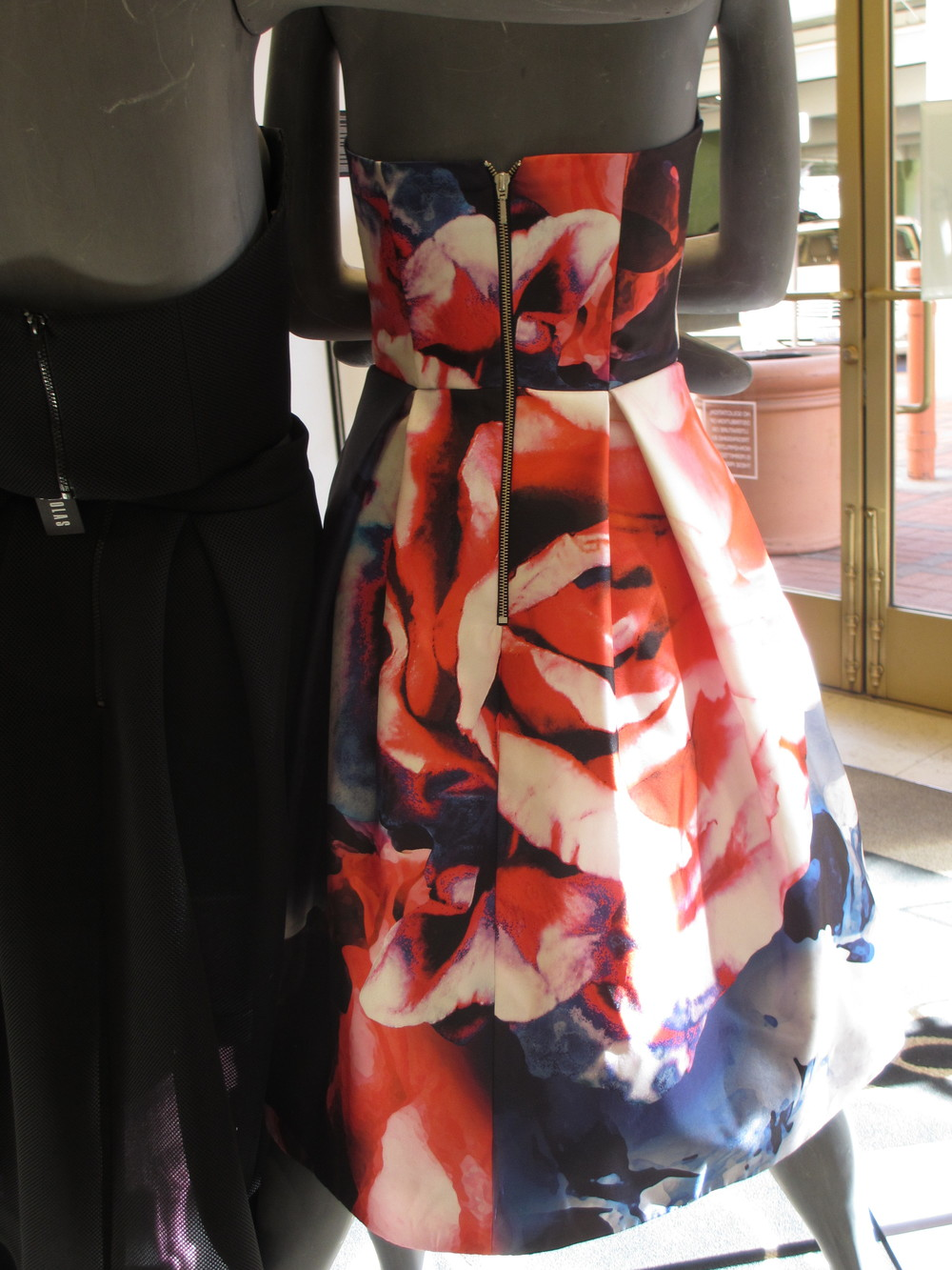The Nicholas Thermo Floral Silk dress view back