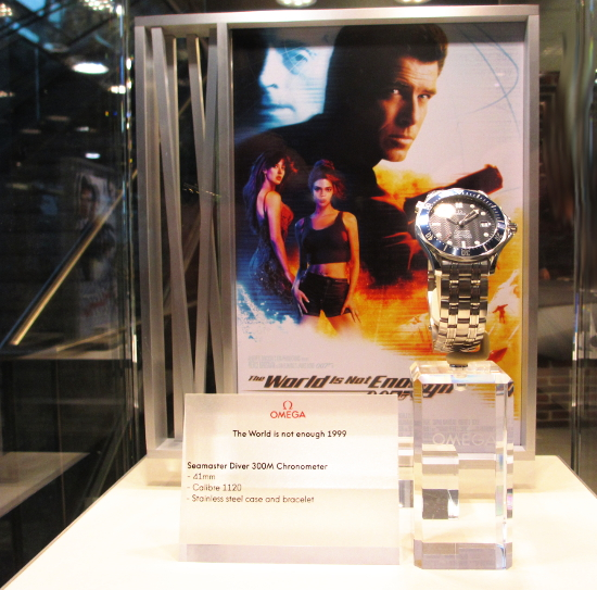 The Omega Seamaster Diver 300M for James Bond in The World is Not Enough, Pierce is looking good.