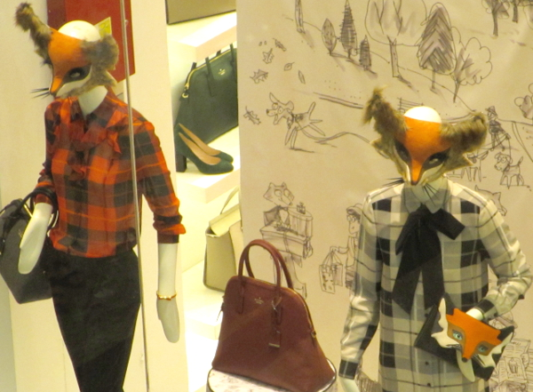 Foxes for Fall in Dubai Woodland pattern at Kate Spade.